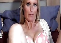 Blonde German MILF Fucks on Homemade
