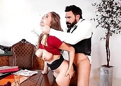 Curvaceous Lena Paul gets grabbed and fucked like never before