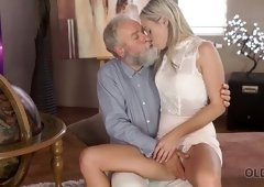 Old bearded fart fucks amazing young beauty Shanie Ryan