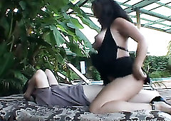 Too voracious big breasted blowlerina Sandy Beach rides dick outdoors