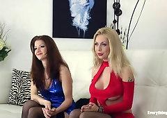 Lesbische Arschlochzerstörung mit Isabella Clark und Hotkinkyjo