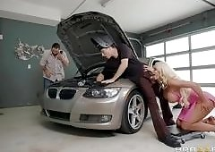 Slutty Wife Cheating On Her Husband Right In The Garage