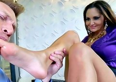 Ava Addams, mature boss, gets nasty with younger lad