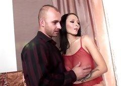 Hottest pornstar in amazing blowjob, facial xxx clip