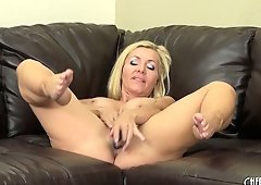 It's a hot solo extravaganza with sexy blonde MILF Lisa DeMarco