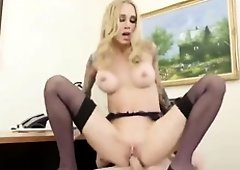 Beautiful, blonde fucked her employee in the office