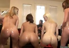 Haley Sweet, Mandy Armani, Sara Monroe and Tammy Taylor in nice hardcore group xxx action