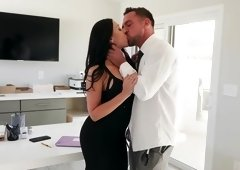 Rachel Starr caught masturbating at work gets fucked & facialed by her boss