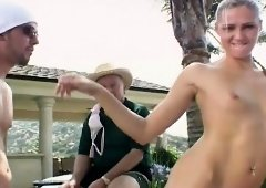 Hotties Ashley Long and Jasmin getting fucked by Vincent Vega outside