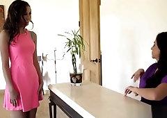 Teen Babe Belle Knox Pleased By A Hot Milf Ariella Ferrera