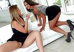 MILF babes Nicoletta Noirett and Nikki Dream share a big hard cock