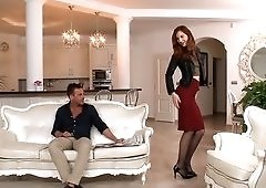 Hot Russian Redhead and Her Husband