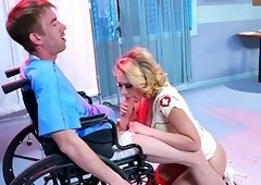 Kagney Linn Karter pleases ill patient with her very tight butt hole